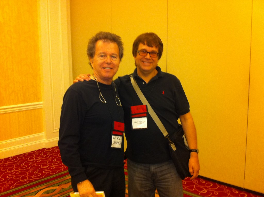 Me with Max Allan Collins (R)