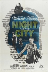 NIGHT AND THE CITY (1950) / Richard Widmark, Gene Tierney, Herbert Lom. Director: Jules Dassin.