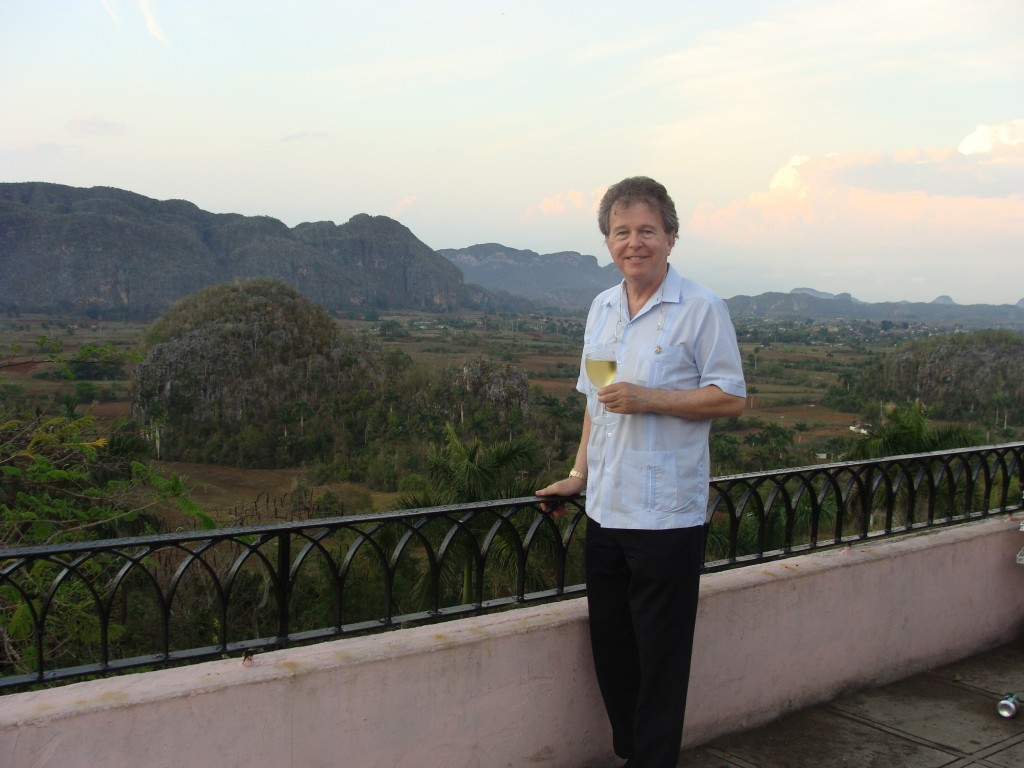 With glass of wine in Vinales