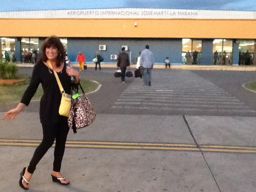 Yleana at airport